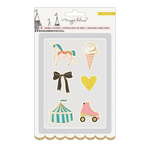 Faux Enamel Gold Foil Stickers - Maggie Holmes - Carousel
