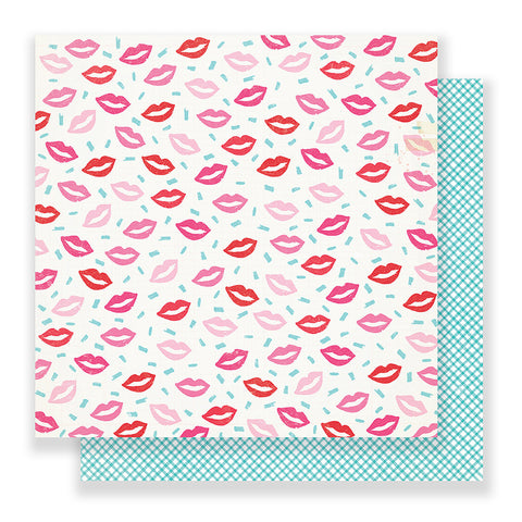 Smooch 12x12 Pattern Paper - Crate Paper - Main Squeeze