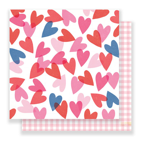 Heart Eyes 12x12 Pattern Paper - Crate Paper - Main Squeeze