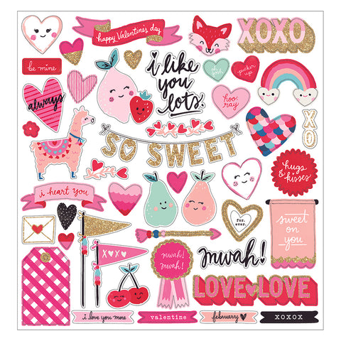 Chipboard Stickers - Crate Paper - Main Squeeze