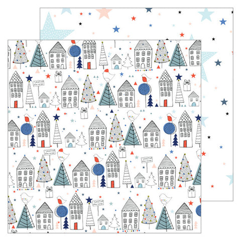 Starry Night 12x12 Pattern Paper - Pinkfresh Studio - December Days