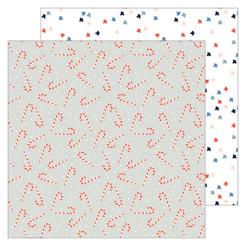Candy Canes 12x12 Pattern Paper - Pinkfresh Studio - December Days