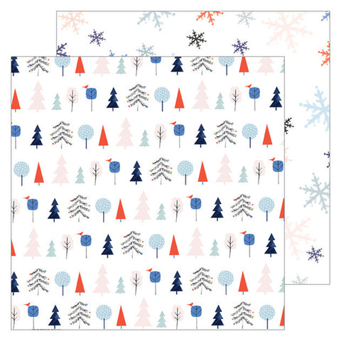 Festive Trees 12x12 Pattern Paper - Pinkfresh Studio - December Days