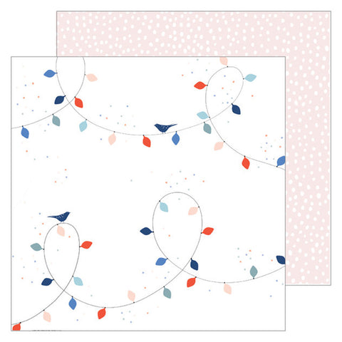 Christmas Lights 12x12 Pattern Paper - Pinkfresh Studio - December Days