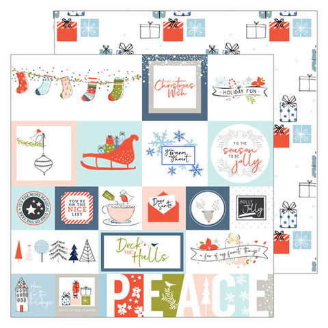 Tis the Season 12x12 Pattern Paper - Pinkfresh Studio - December Days