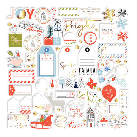 Gold Foil Die Cuts - Pinkfresh Studio - December Days