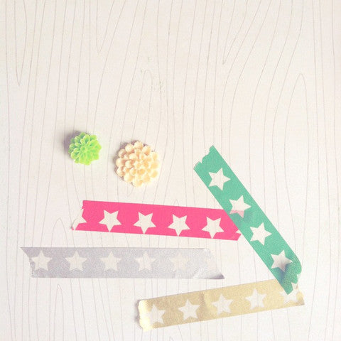 Freckled Fawn White Starline Washi