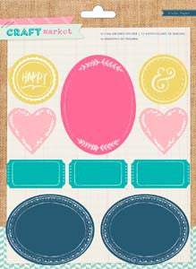Colored Chalkboard stickers - Crate Paper Craft Market