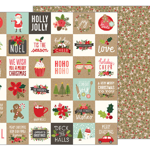 Merry Merry 12x12 Pattern Paper - Pebbles - Merry Merry