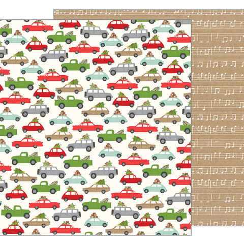 Over the River 12x12 Pattern Paper - Pebbles - Merry Merry