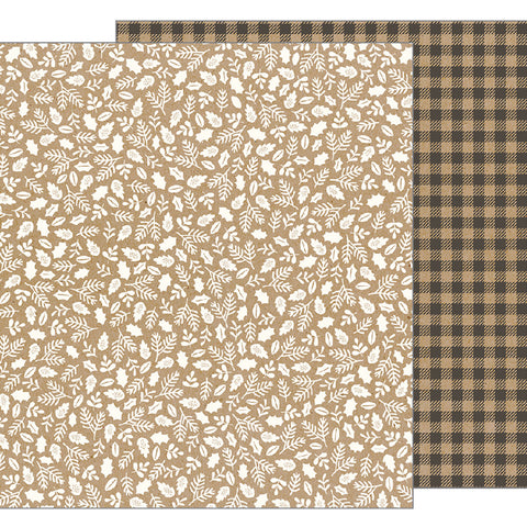 Kraft Sprigs 12x12 Pattern Paper - Pebbles - Merry Merry