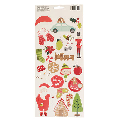 6x12 Sticker Sheet - Pebbles - Merry Merry