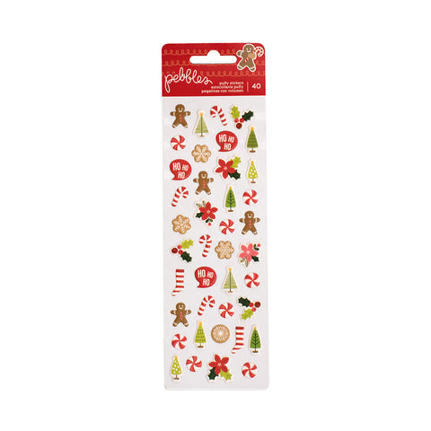 Mini Puffy Stickers - Pebbles - Merry Merry