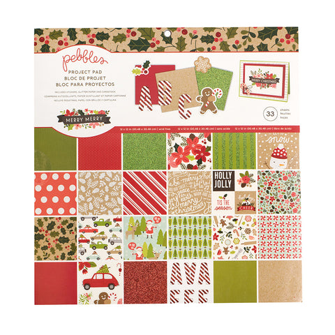 12x12 Project Pad - Pebbles - Merry Merry