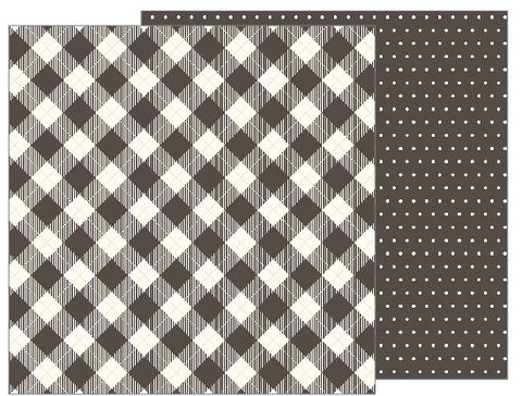 Buffalo Check 12x12 Pattern Paper - Pebbles - Jen Hadfield Heart of Home