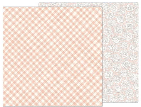 Painted Gingham 12x12 Pattern Paper - Pebbles - Jen Hadfield Heart of Home