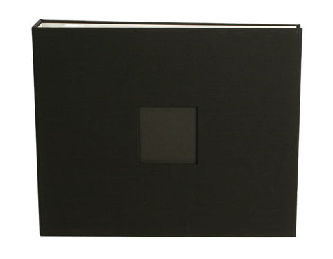 American Crafts 12x12 Cloth Album Black