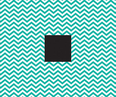Teal Chevron 12x12 Patterned Album - American Crafts