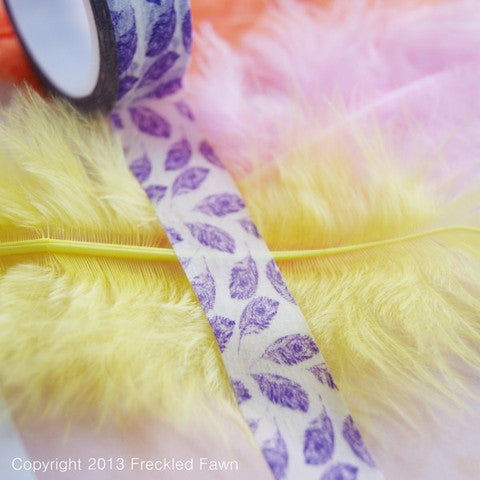 Freckled Fawn Purple Feather Washi