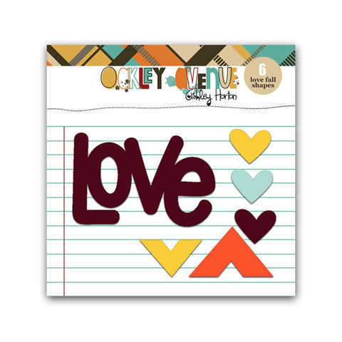 Acrylic Love Fall - Pretty Little Studio Oakley Avenue