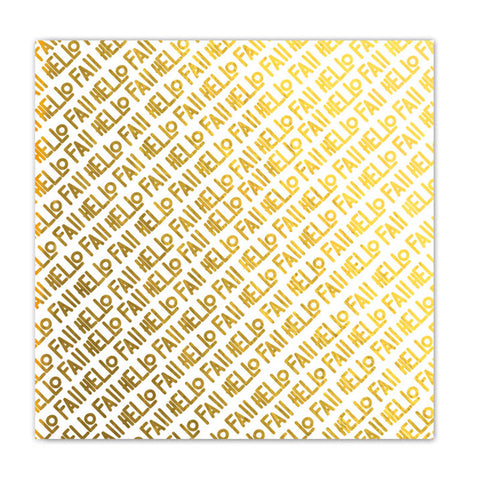 Hello Hello 8x8 Gold Metallic Paper - Pretty Little Studio Oakley Avenue
