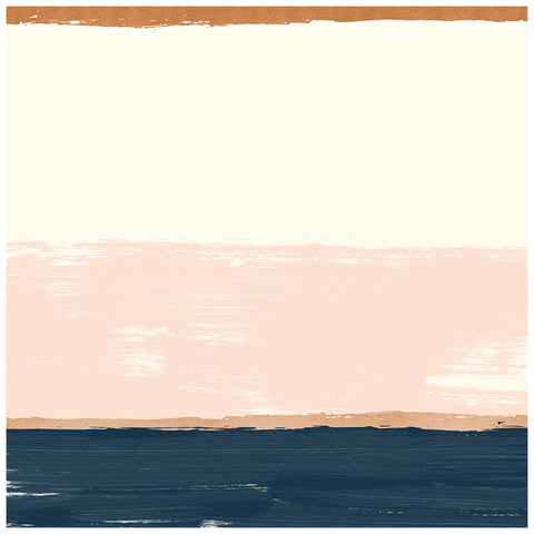 Brush 12x12 Rose Gold Foil Paper - My Mind's Eye - Blush