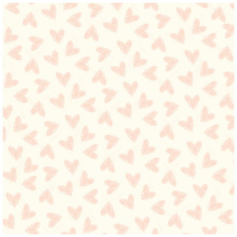 Random Dot 12x12 Rose Gold Foil Paper - My Mind's Eye - Blush