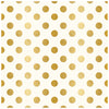 Modern Botanical 12x12 Gold Foiled Pattern Paper - My Mind's Eye - In Bloom