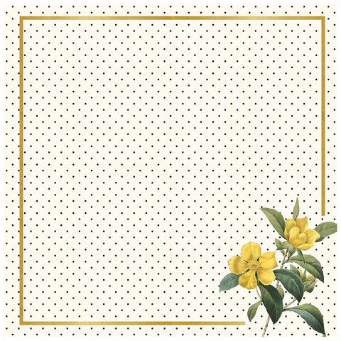 Flora 12x12 Gold Foiled Pattern Paper - My Mind's Eye - In Bloom