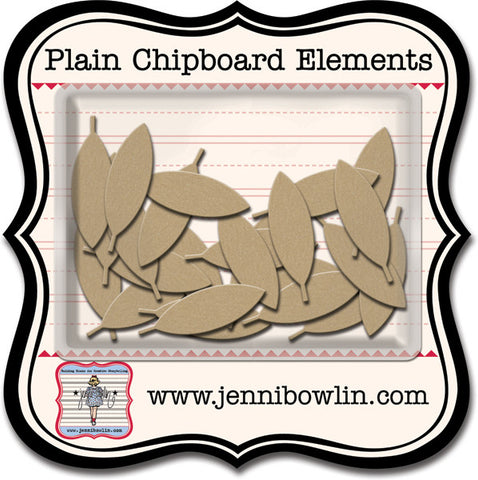 Plain Chipboard Pieces Graphic Feathers