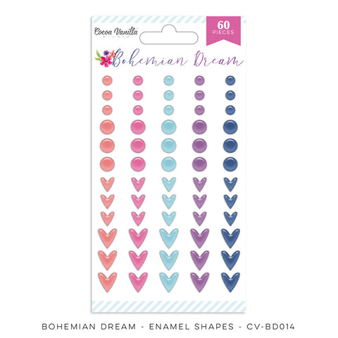 Enamel Shapes - Cocoa Vanilla - Bohemian Dream