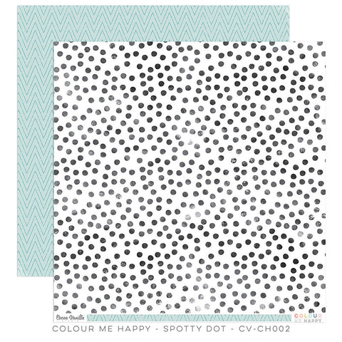 Spotty Dot 12x12 paper - Cocoa Vanilla Colour Me Happy