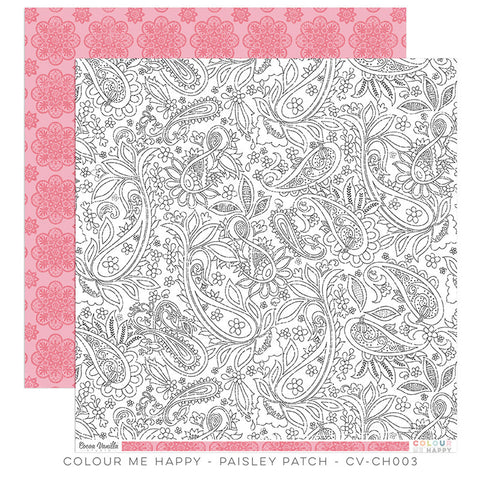 Paisley Patch 12x12 paper - Cocoa Vanilla Colour Me Happy