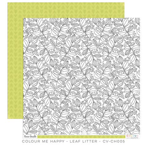 Leaf Litter 12x12 paper - Cocoa Vanilla Colour Me Happy