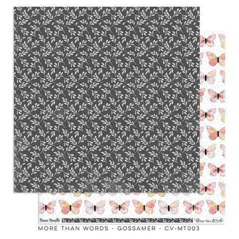 Gossamer 12x12 Pattern Paper - Cocoa Vanilla - More Than Words