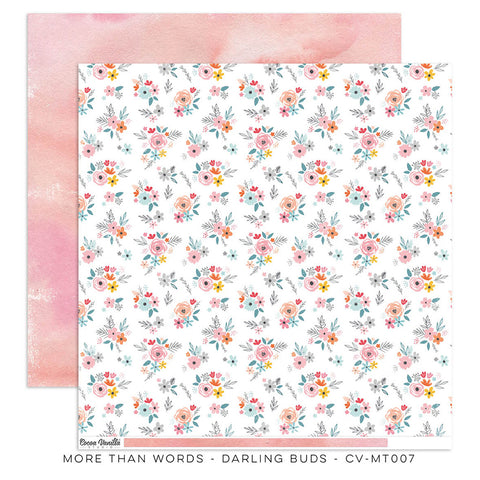 Darling Buds 12x12 Pattern Paper - Cocoa Vanilla - More Than Words