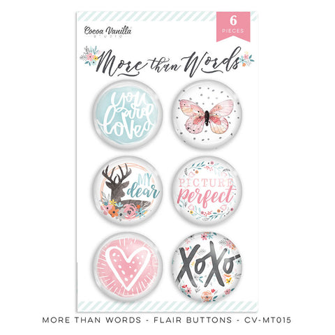 Flair Buttons - Cocoa Vanilla - More Than Words