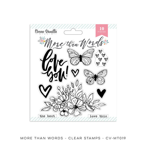 Clear Stamps - Cocoa Vanilla - More Than Words