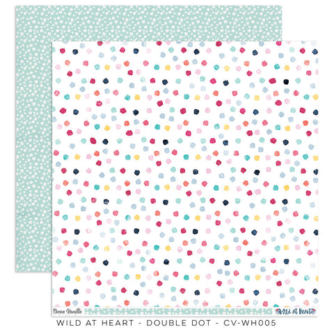 Double Dot 12x12 Pattern Paper - Cocoa Vanilla - Wild At Heart