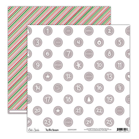 Countdown 12x12 Paper - Elle's Studio Tis The Season