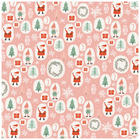 Elves 12x12 Pattern Paper - My Mind's Eye - Oh What Fun