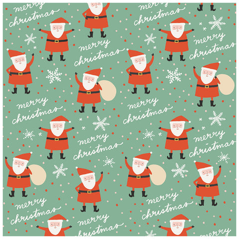 Santa 12x12 Pattern Paper - My Mind's Eye - Oh What Fun