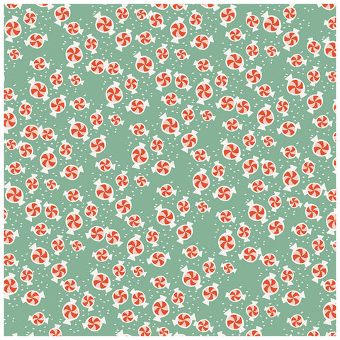 Minty 12x12 Pattern Paper - My Mind's Eye - Oh What Fun