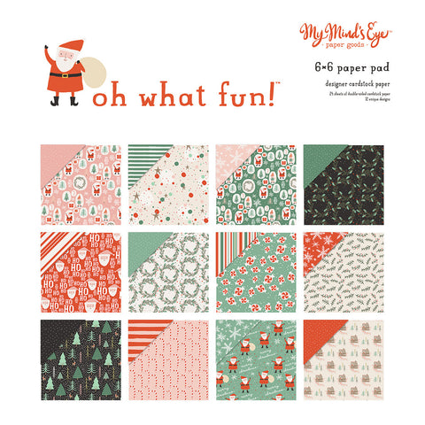 6x6 Paper Pad - My Mind's Eye - Oh What Fun