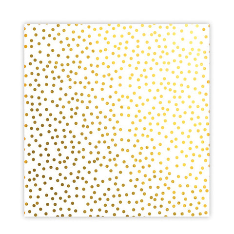 Christmas Confetti 8x8 Gold Metallic Acetate - Pretty Little Studio - Holly Jolly