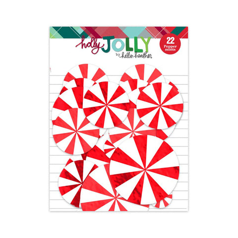 Peppermint Foil Die Cuts - Pretty Little Studio Holly Jolly