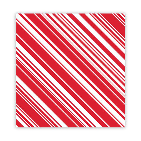 Candy Cane 8x8 Paper - Pretty Little Studio Holly Jolly