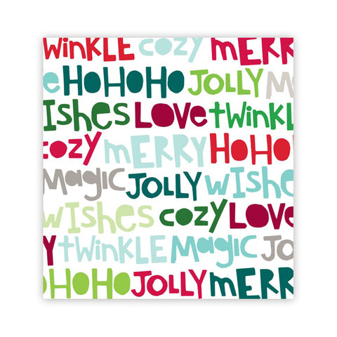 Ho Ho Ho 8x8 Clear Acetate - Pretty Little Studio Holly Jolly