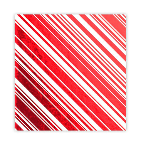 Candy Cane 8x8 Red Metallic - Pretty Little Studio Holly Jolly