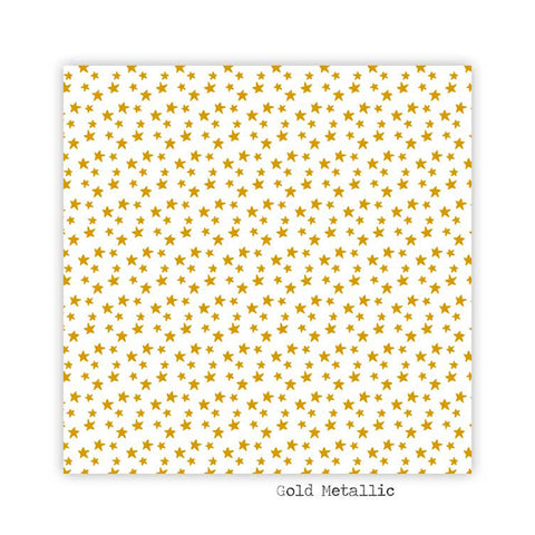 Starry 8x8 Gold Metallic Clear Transparency - Pretty Little Studio - Winter Joy